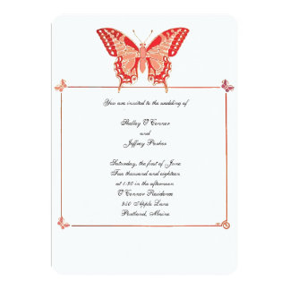 Butterflies Invitation for Wedding