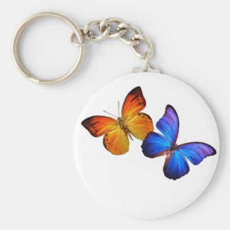 Butterflies Basic Round Button Key Ring