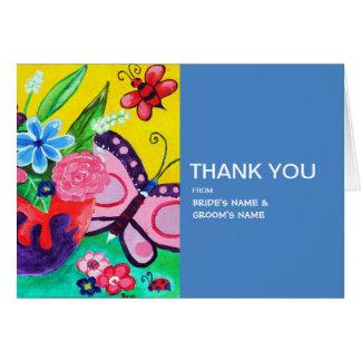 Butterflies Ladybugs Wedding Thank You Card
