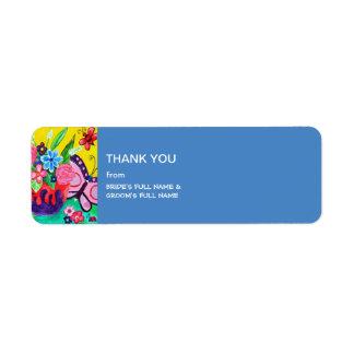 Butterflies & Ladybugs Wedding Thank You Label Return Address Label