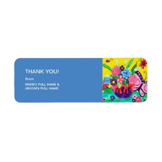 Butterflies & Ladybugs Wedding Thank You Sticker 2 Return Address Label