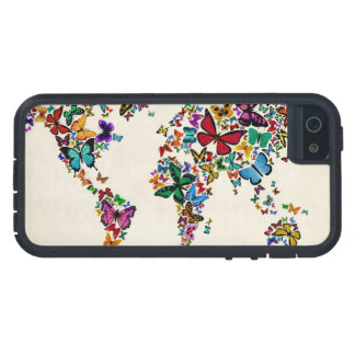 Butterflies Map of the World iPhone 5/5S Case