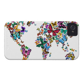 Butterflies Map of the World iPhone 4 Cover