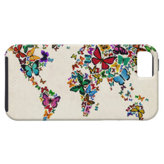 Butterflies Map of the World Case For iPhone 5/5S