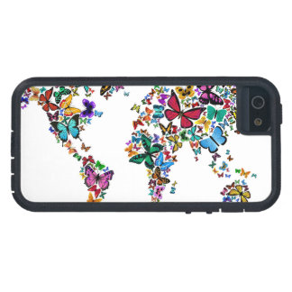 Butterflies Map of the World Cover For iPhone 5/5S