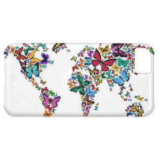 Butterflies Map of the World Cover For iPhone 5C