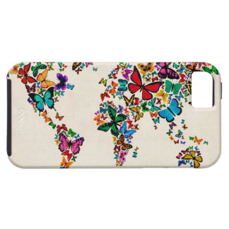 Butterflies Map of the World iPhone 5/5S Covers