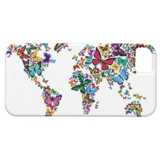 Butterflies Map of the World iPhone 5 Cover