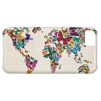 Butterflies Map of the World iPhone 5C Covers