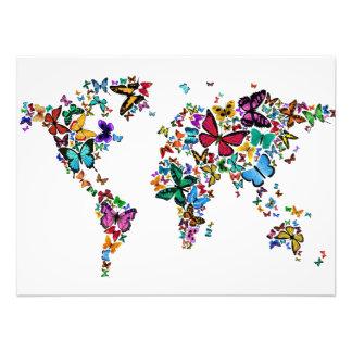 Butterflies Map of the World Art Photo