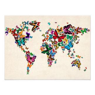 Butterflies Map of the World Photo