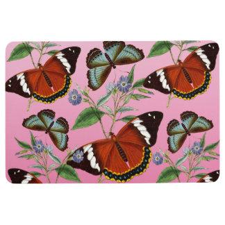 butterflies mix pink floor mat