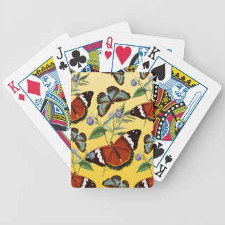 butterflies mix yellow bicycle playing cards