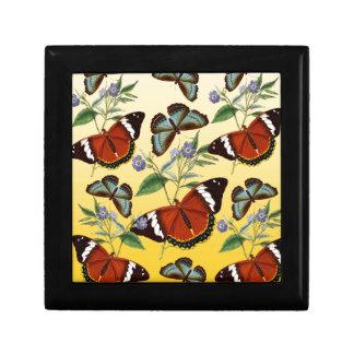 butterflies mix yellow gift box