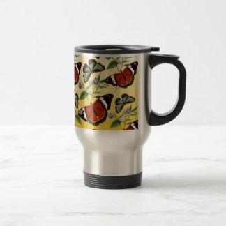 butterflies mix yellow travel mug