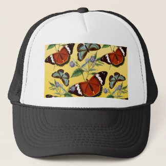 butterflies mix yellow trucker hat