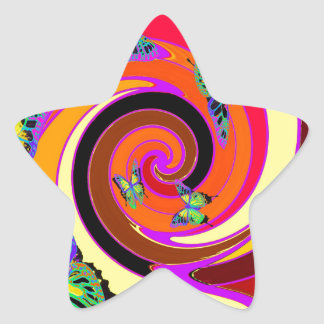 Butterflies Modern Art design by Sharles Star Sticker