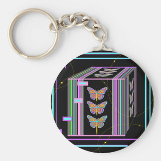 Butterflies Morphing Box Design by Sharles Keychain