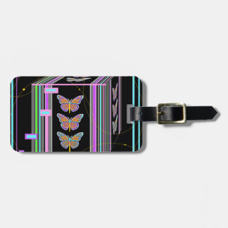 Butterflies Morphing Box Design by Sharles Travel Bag Tag