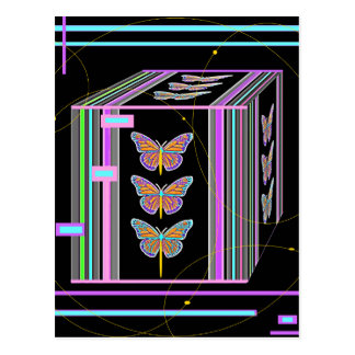 Butterflies Morphing Box Design by Sharles Postcards