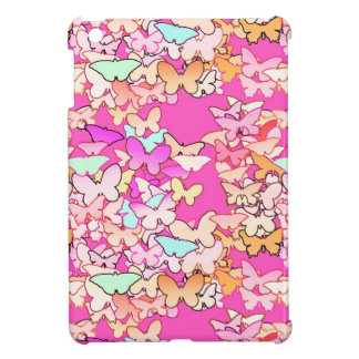 Butterflies, multi and deep pink cover for the iPad mini