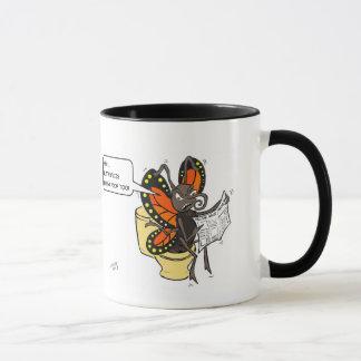 Butterflies need to poop too! mug