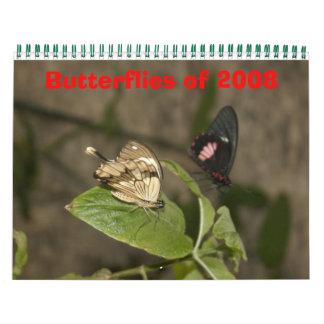 Butterflies of 2008 wall calendar