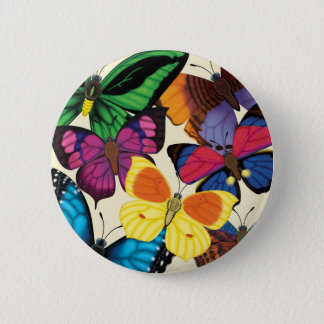 Butterflies of the World 6 Cm Round Badge