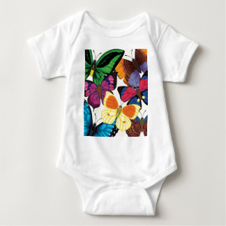 Butterflies of the World Baby Bodysuit