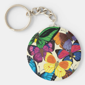 Butterflies of the World Key Ring