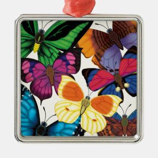 Butterflies of the World Metal Ornament