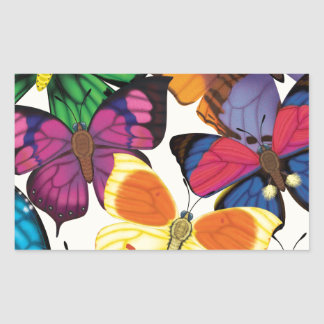 Butterflies of the World Rectangular Sticker