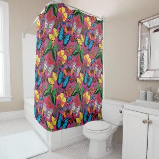 Butterflies of the World Shower Curtain