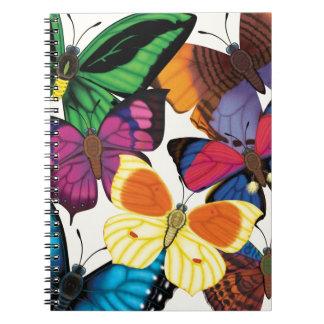 Butterflies of the World Spiral Notebook