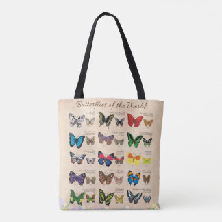 Butterflies of the World Tote Bag