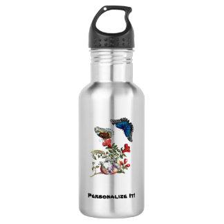 Butterflies on pomegranate 532 ml water bottle