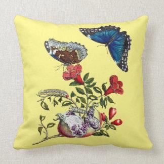Butterflies on pomegranate cushion