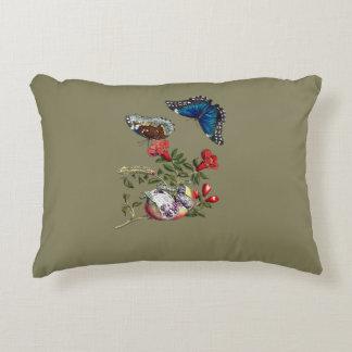 Butterflies on pomegranate decorative cushion