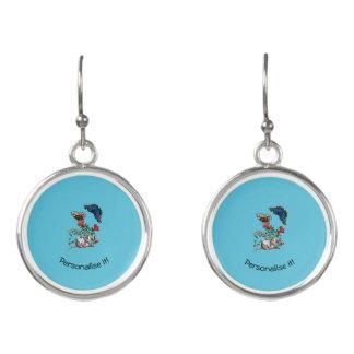Butterflies on pomegranate earrings