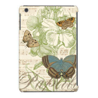 Butterflies on Sheet Music with Floral Design iPad Mini Cover