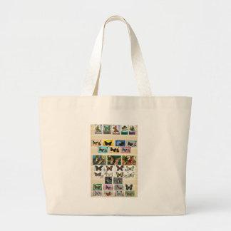 Butterflies on stamps 2 jumbo tote bag
