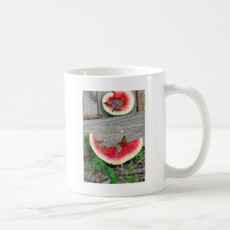 Butterflies on Watermelon Coffee Mug
