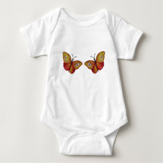 Butterflies Orange Watercolor Baby  Bodysuit