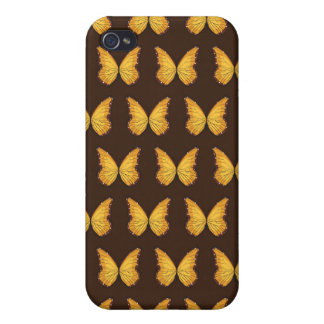 Butterflies pattern brown covers for iPhone 4