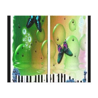 Butterflies Piano Keys Canvas Prints