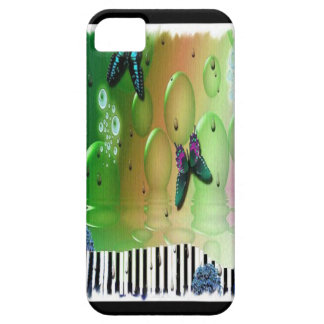 Butterflies Piano Keys Case For The iPhone 5