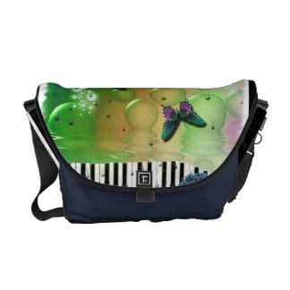 Butterflies Piano Keys Commuter Bag