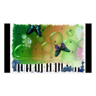 Butterflies Piano Keys Pack Of Standard Business Cards