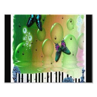 Butterflies Piano Keys Photo Print