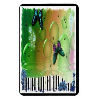 Butterflies Piano Keys Rectangular Photo Magnet